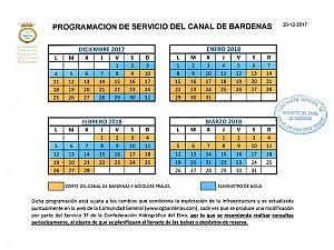 PROGRAMACIÓN DE SERVICIO DEL CANAL...