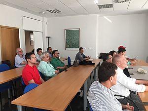 Una delegación de Bolivia y del Banco...