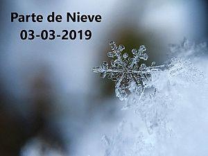 PARTE DE NIEVE 03-03-2019