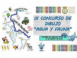 """ELEGIDOS LOS GANADORES DEL IX CONCURSO DE DIBUJO DE LA COMUNIDAD GENERAL DE REGANTES DEL CANAL DE BARDENAS """"AGUA Y FAUNA"""""""