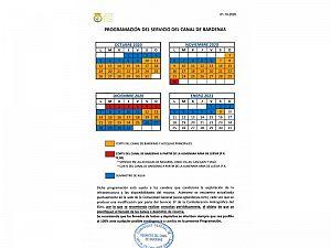 PROGRAMACION CANAL DE BARDENAS 01-10-2020