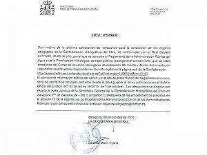 NOTA-ANUNCIO CHE CENSO USUARIOS RENOVACION JUNTAS DE EXPLOTACION