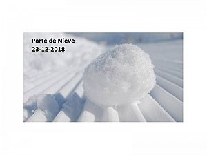 PARTE DE NIEVE 23-12-2018