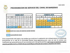 PROGRAMACION CANAL DE BARDENAS