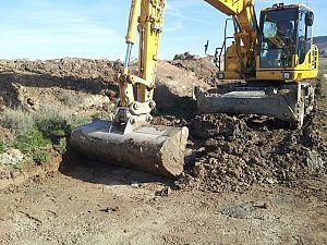 Arrancan los trabajos de adecuación del camino general CG6 en el tramo Santa Anastasia-El Sabinar (Ejea de los Caballeros)