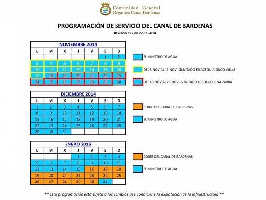 Modificación Canal de Bardenas 28-11-2014