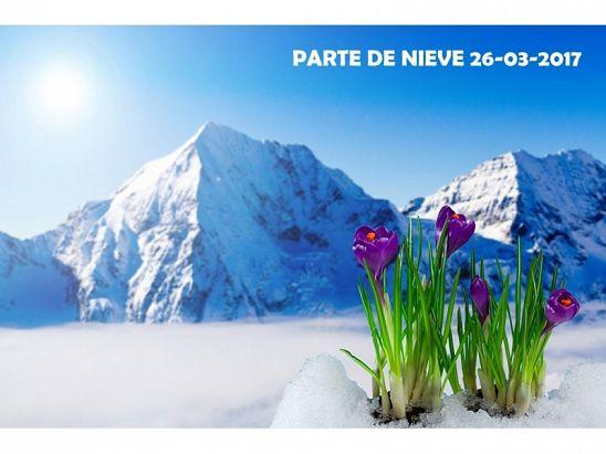 PARTE DE NIEVE 26-03-2017