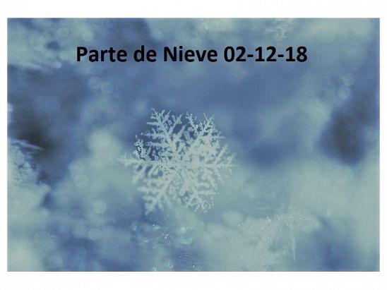 PARTE DE NIEVE 02-12-2018