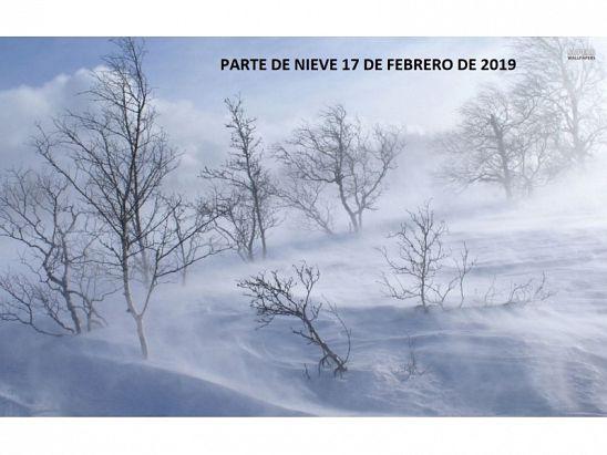 PARTE DE NIEVE 17-02-2019