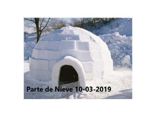 Parte de Nieve 10-03-2019