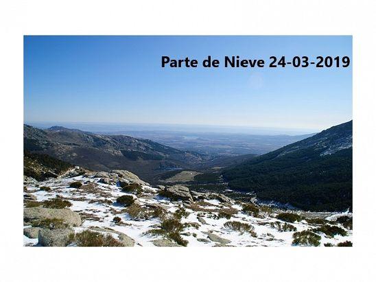 PARTE DE NIEVE 24-03-2019