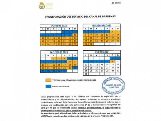 Calendario Canal